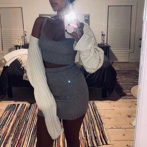 Shimmery Superdown Knit Set